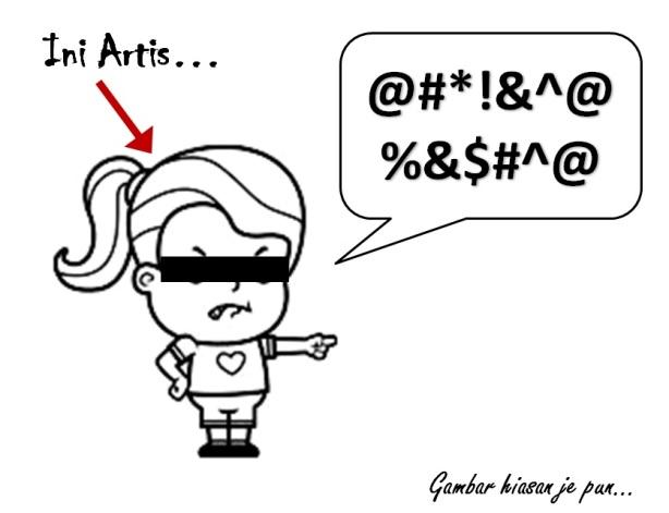 Artis tengah marah